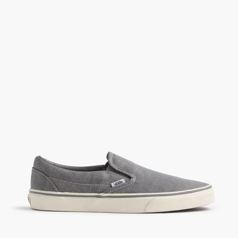 200b98403 Vans For J.Crew Washed Canvas Classic Slip-On Sneakers (Size 11 M ...