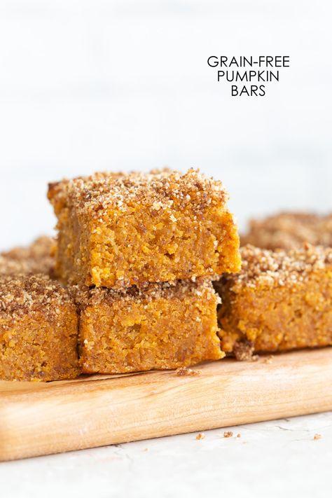 Vegan Gluten Free Pumpkin Bars Grainfree