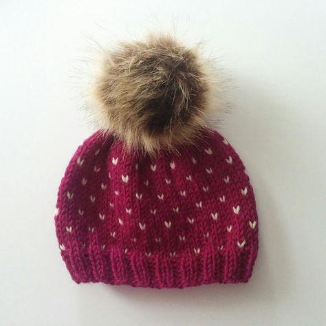321565e542c Hand Knit Peruvian Wool Fairisle Hats Baby 0-6 months with ...