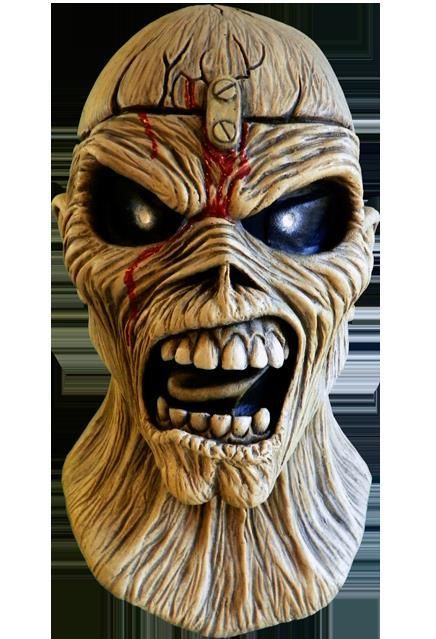 Iron Maiden Official POWERSLAVE Latex Costume Mask Eddie Halloween Album Cover