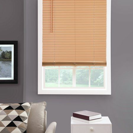 Mainstays 1 Inch Cordless Room Darkening Khaki Vinyl Window Blinds 35x48 Beige Blinds Pvc Blinds Blinds For Windows