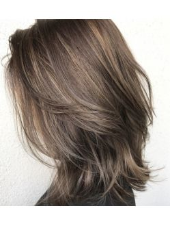 伸ばしかけミディアムレイヤー ヘアスタイル ヘアスタイリング 髪型