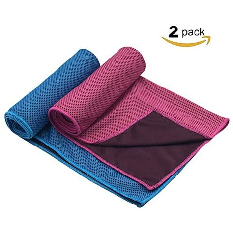 Yungui 2 Pack Microfiber Ice Cool Towel Sports Cooling Towel Suit