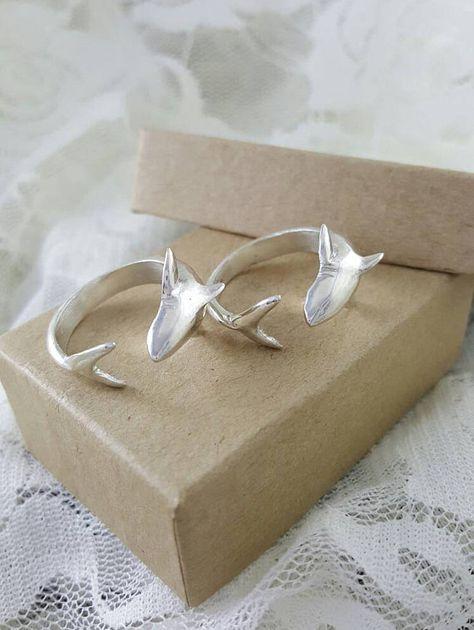 Shark Ring in Sterling Silver silver shark ring shark