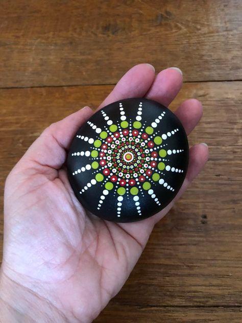 Hand Painted Mandala Stone   Etsy