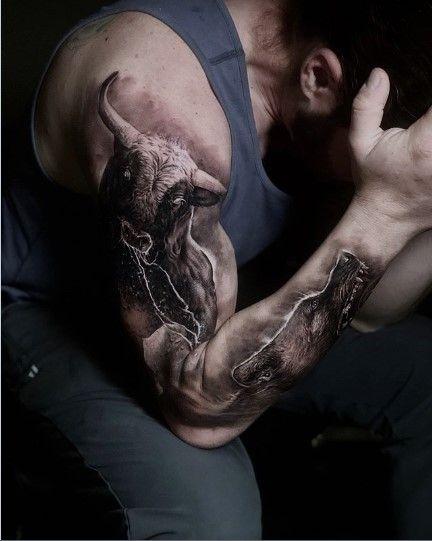 22 Best Bull Tattoo Ideas And Meanings Bull Tattoos Bull Skull