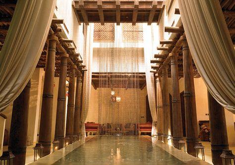 The reception at Six Senses Spa at Sharq Village & Spa, Doha - Qatar http://www.sixsenses.com/spas/doha/welcome