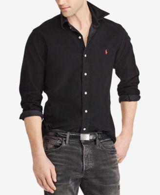 Men's Big   Ralph lauren slim fit, Shirt outfit men, Polo ralph ...