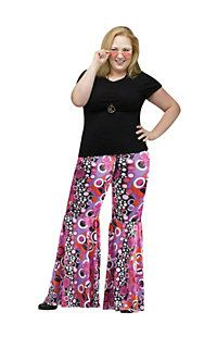 Check out Women's Plus Size Flower Child Bell Bottoms - Wholesale Hippie Costumes for Women from Wholesale Halloween Costumes