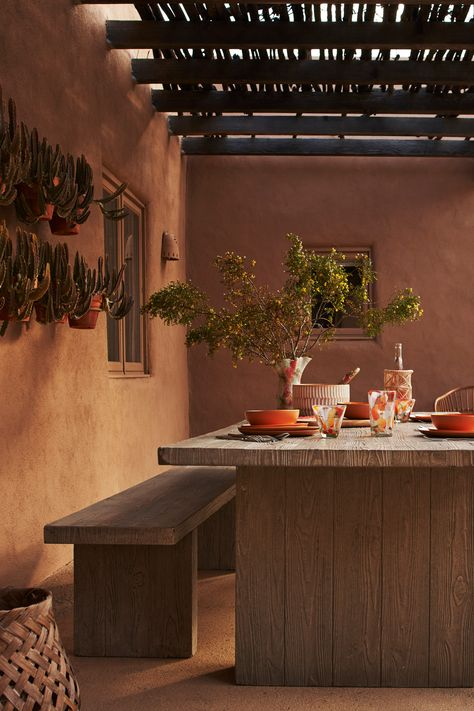 This season, Anthropologie has found inspiration in combining the beauty of desert landscapes with traditional textile techniques and sustainable sourcing for a truly off-beat Bohemian spirit. And their new Concrete Indoor/Outdoor Dining Table is the perfect backdrop for your summer parties and celebrations.