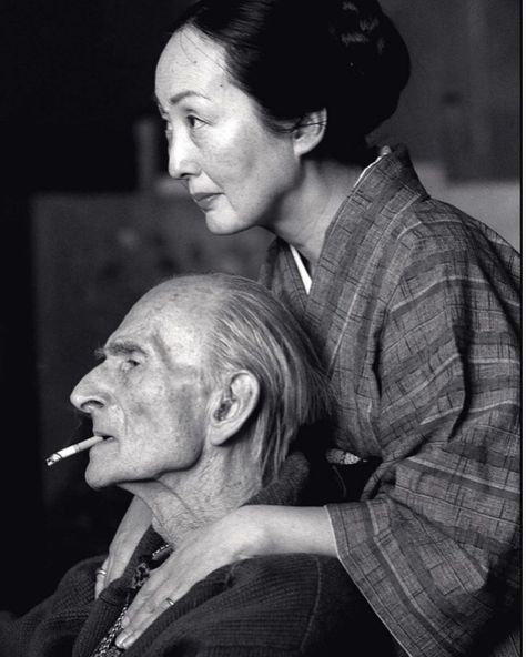 """LUMA Arles - Mr. P on Instagram: """"The Painter Balthus and his wife Setsuko in their wooden hut of Rossinière, Switzerland, 1998 by Henri Cartier-Bresson #balthus…"""""""