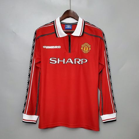 Manchester United 98-99 Retro Football Shirt Long Sleeve | Etsy in ...