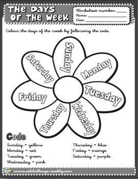 Days Of The Week Worksheet English Teaching Resources English Worksheets For Kids English Language Teaching