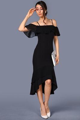 Detaylari Goster Ip Askili Siyah Elbise Siyah Elbise The Dress Elbise Modelleri