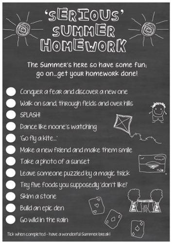 Teaching Ideas On Twitter Summer Homework Holiday Homework Summer Break Kids