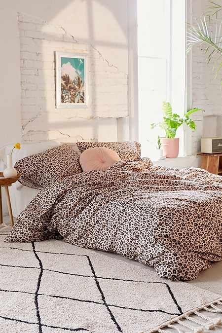 Leopard Print Duvet Cover Set Decoraciones De Dormitorio