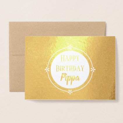 Custom Name Greeting Card In Gold Foil Finish Zazzle Com With