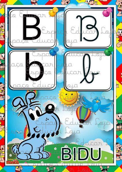 Alfabeto Turma Da Monica 4 Tipos De Letras Ilustrado Colorido