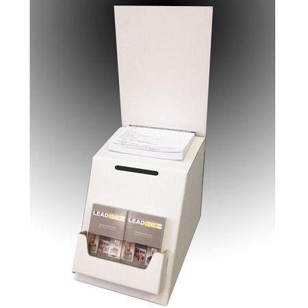 Low Cost White Cardboard Ballot, Raffle Box and Suggestion Box ...