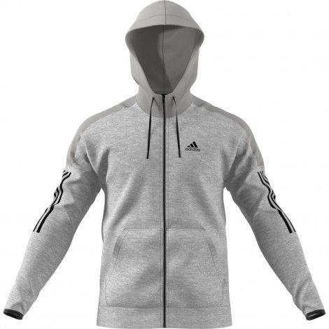 adidas Sport ID Fleece hoodie heren medium grey heather ...