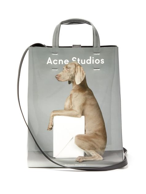 Acne Studios X William Wegman Baker Medium Dog Print Tote Bag