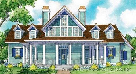 The Holbrook A Classic Country Home Plan Just The Front Exterior House Plans Country House Plans Custom Home Plans