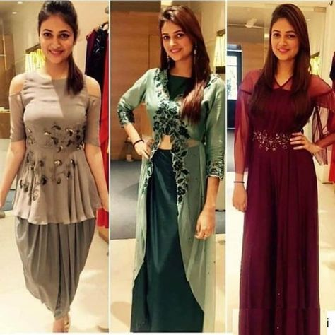 Designer dresses indian - Image may contain 3 people, people standing