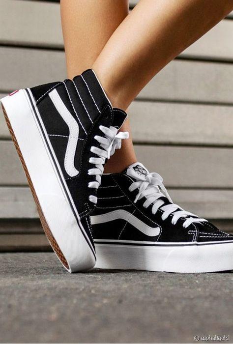 Baskets Vans Sk8 Hi noires, montantes #Baskets #montantes