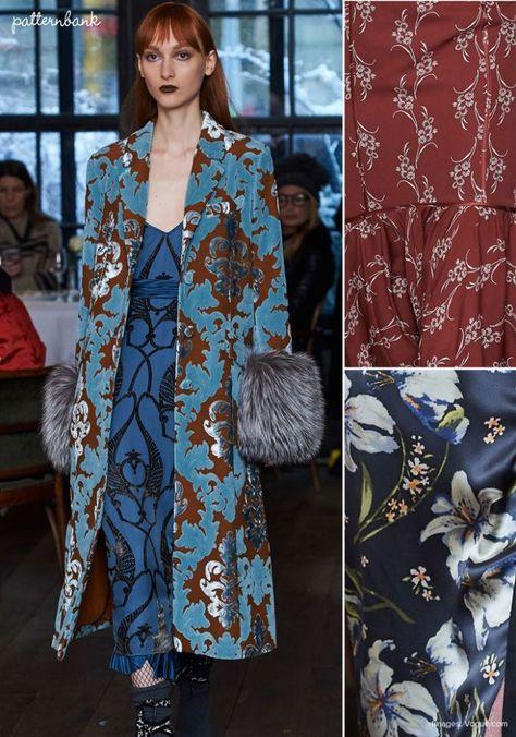 Cinq à Sept - Fall 2017 - RTW - New York Fashion Week - Print & Pattern Highlight | Patternbank #OldFashionTrends