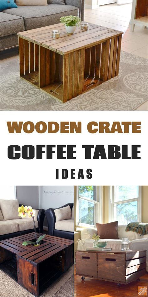 11 Diy Wooden Crate Coffee Table Ideas Crate Coffee Table Wooden Crate Coffee Table Crate Furniture