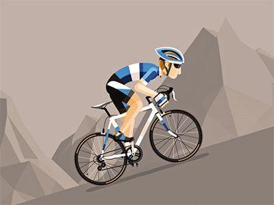 Cyclist Bike Illustration Cycling Art Bike Art