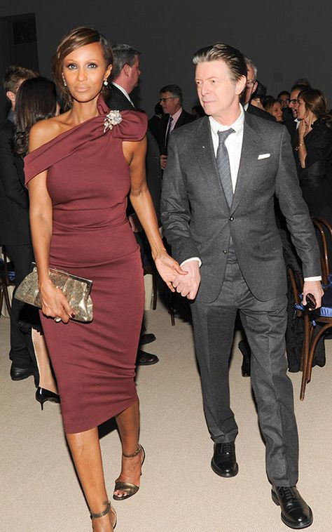 David Bowie and wife of 21 years Iman broke cover to attend an event in New York honouring Tilda Swinton - nov 8 2013