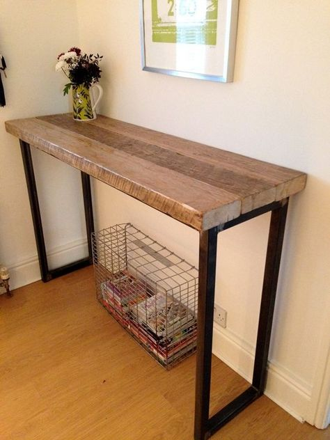 Industrial Mill Reclaimed Wood Breakfast Bar/Console Table for Pool Room #InteriorDesign #living #lifestyle