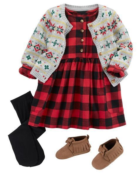 Newborn Baby Girls Dress Red Plaids Checkered Tutu Dresses with Demin Pocket Princess Party Outfits