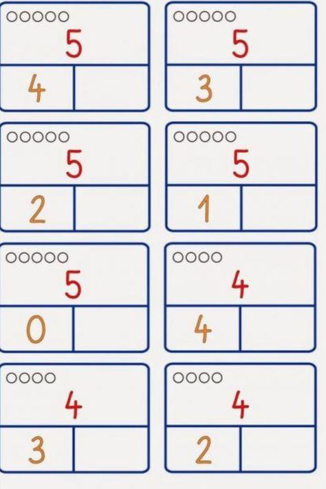 Mental Maths Worksheets, 1st Grade Worksheets, Kindergarten Math Worksheets, Preschool Math, Teaching Kindergarten, Math Classroom, Number Worksheets, Teaching Numbers, Teaching The Alphabet