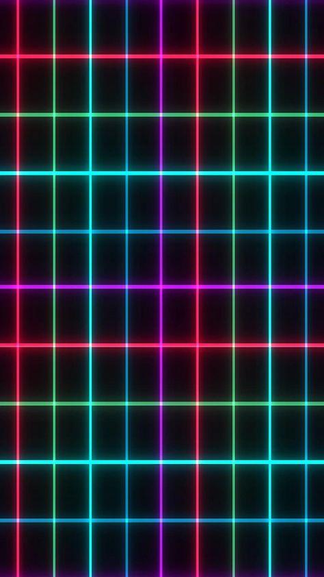 Free Motion Graphic Background 🟪 Retro Flashing Neon Grid VJ Loop