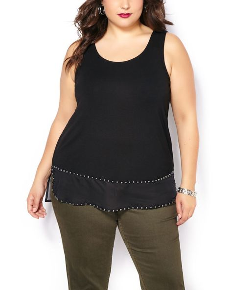 d0db2abfe508a Sleeveless Studded Tank Top