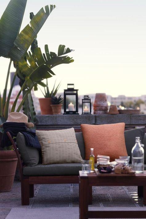 Espectaculares Terrazas Decoradas Al Estilo De Ikea Decoracion De Casa Con Plantas Terrazas Decoradas