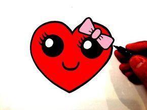 Comment Dessiner Coeur Avec Des Ailes Kawaii étape Par étape