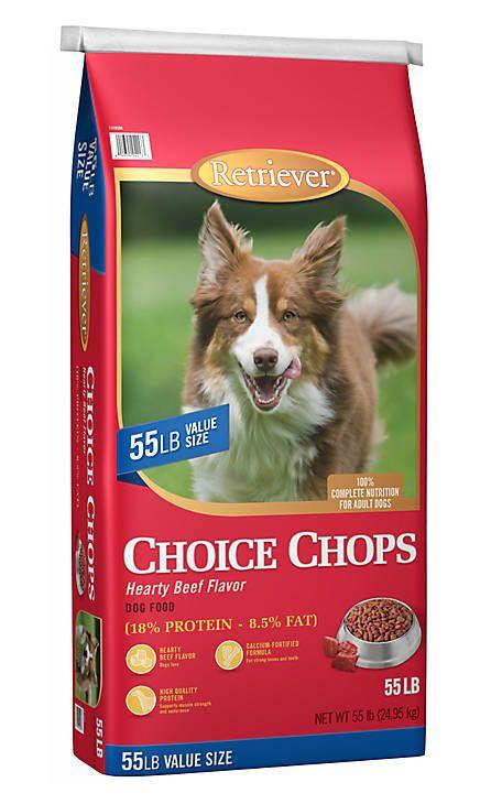 Retriever Choice Chops Hearty Beef Flavor Dog Food 55 Lb Bag At