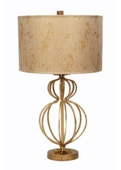 Gallery Designs Lighting Gold Metallic Silk Shade On
