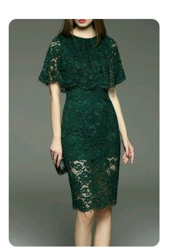 Green Brokat Lace Dress Design Lace Dress Lace Pencil Dress