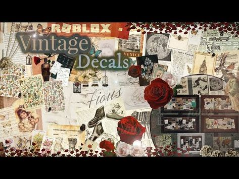 (3070) Decals Codes 200+ Vintage Decals  Cork board Decals   Decals Ids   Bloxburg ROBLOX - YouTube