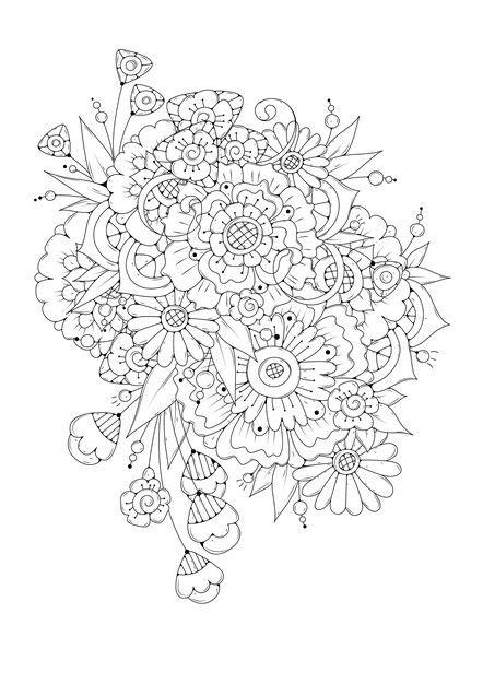Kolorowanka Kwiat In 2021 Coloring Book Pages Coloring Books Mandala Design