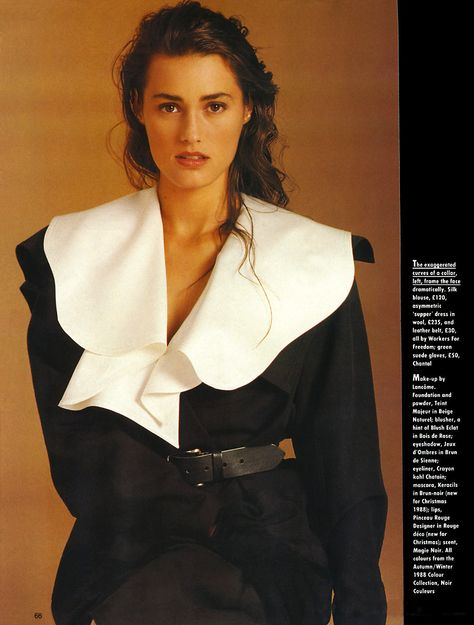 Originally published in Marie Claire UK, December 1988 Photographed by William Garrett