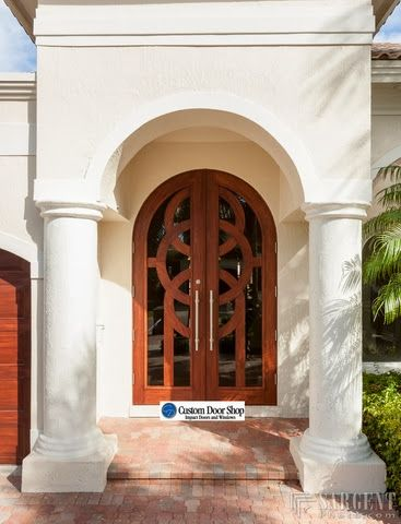Extra Large 12 Ft Door Custom Double Front Doors With Circle Design