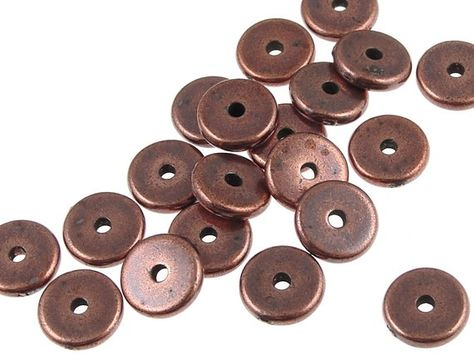 50 Antique Silver Pewter Washers Spacer Caps beads 7mm