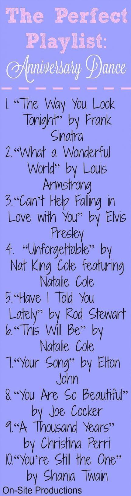 Anniversary song ideas