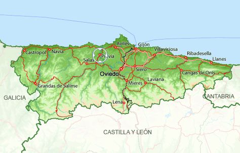 Situacion De Pravia Enel Mapa De Asturias Grandas De Salime