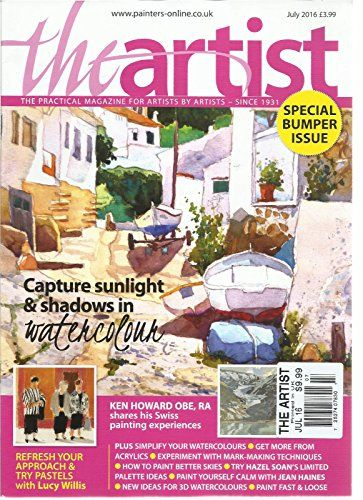 The Artist July 2016 The Practical Magazine For Artist By